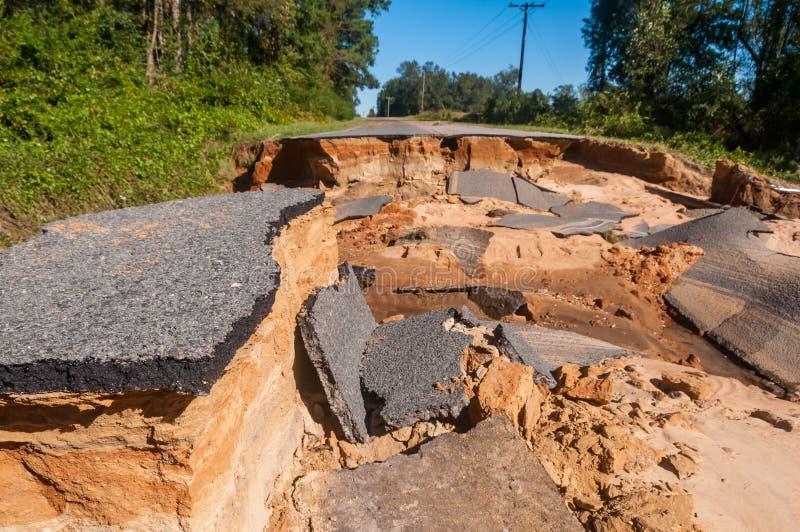 Route fermée photos stock