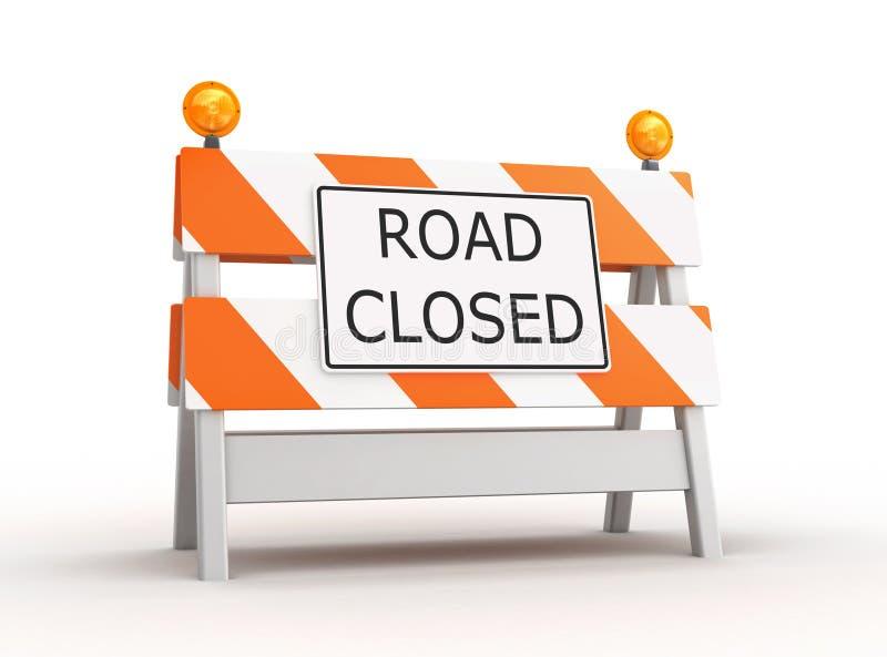 Route fermée illustration stock