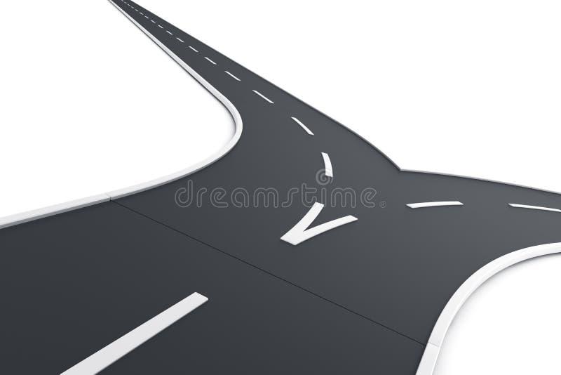 Route fractionnant illustration stock