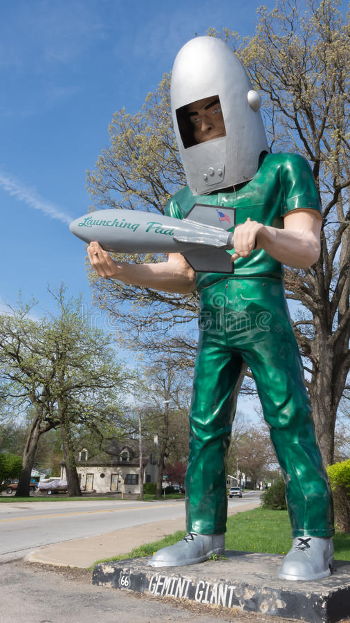 Route 66: Gemini Giant Sculpture, Wilmington, IL stockbilder