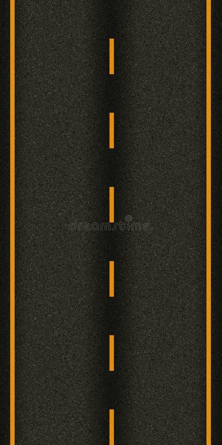 Route goudronnée sans couture de route de texture photos libres de droits