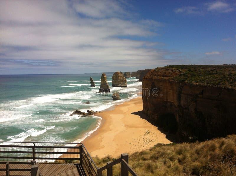 Route grande Australie d'océan photographie stock