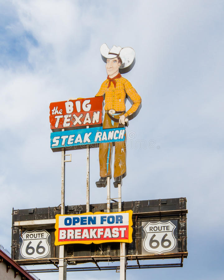 Route 66: Große Texaner-Steak-Ranch, Amarillo, lizenzfreie stockfotos
