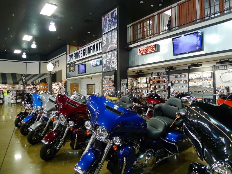 Route 66 Harley Davidson à Tulsa, l'Oklahoma, affichage des motos image stock