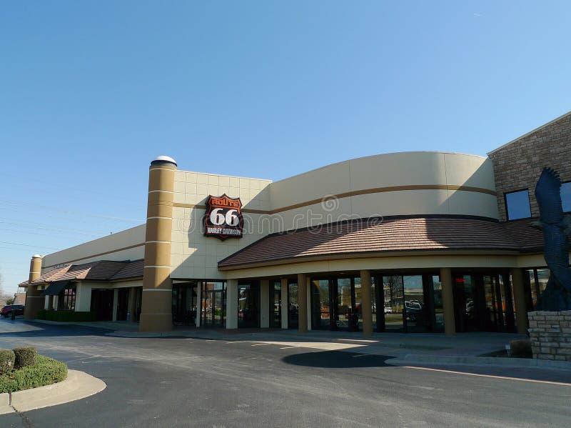 Route 66 Harley Davidson em Tulsa, Oklahoma imagem de stock royalty free