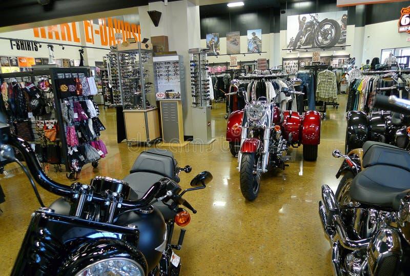 Route 66 Harley Davidson em Tulsa, Oklahoma, Trike imagens de stock