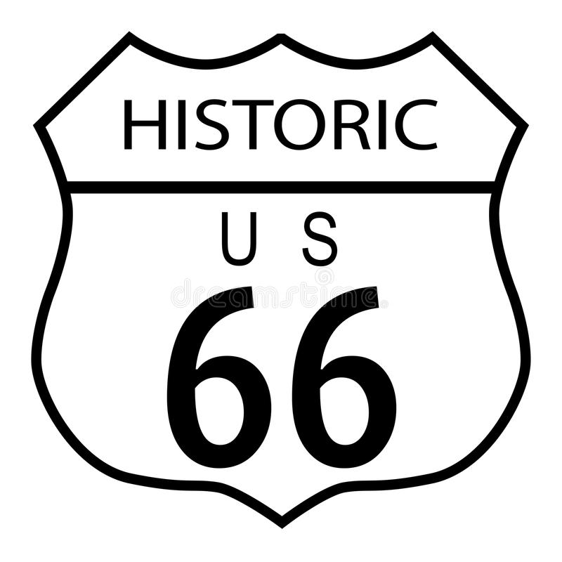 Route 66 historisch stock abbildung