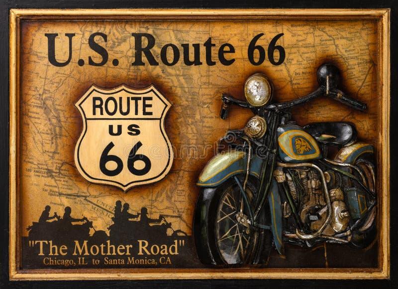 Route 66 Home Decor Wall Art ilustração do vetor