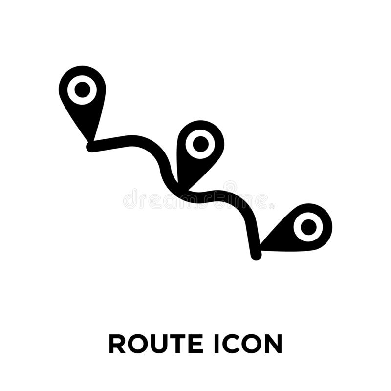 Route icon vector isolated on white background, logo concept of vector illustration
