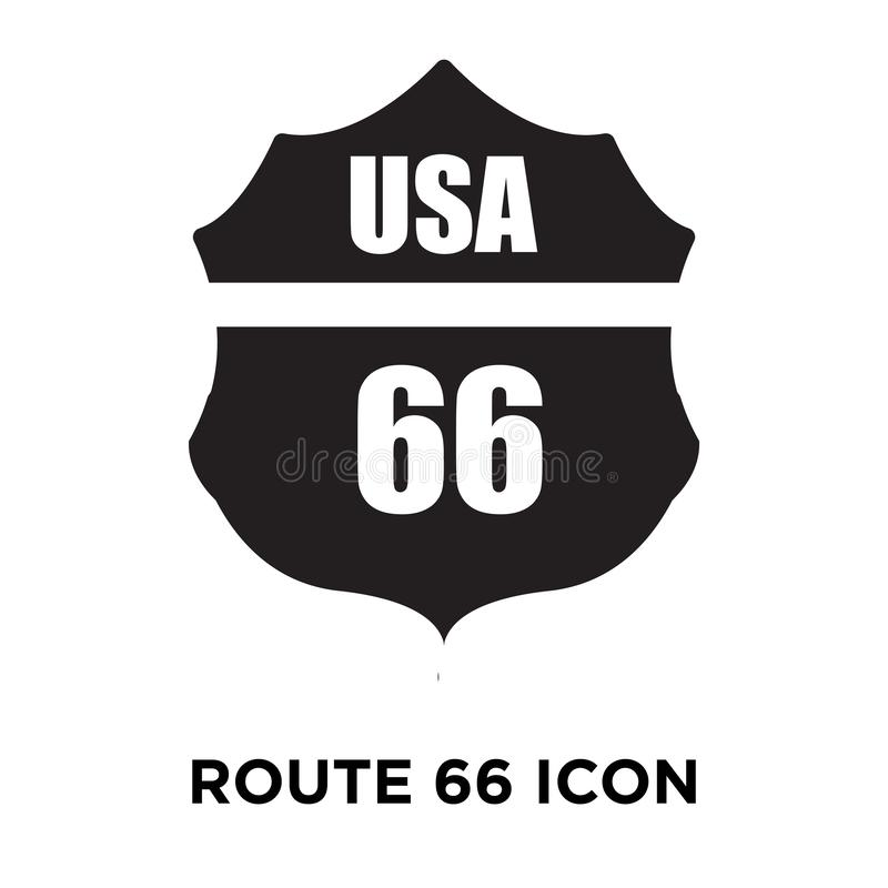 Route 66 icon vector isolated on white background, logo concept stock illustration