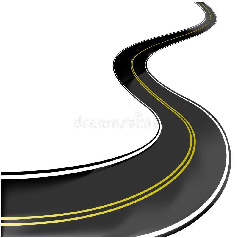Route - illustration de vecteur illustration stock