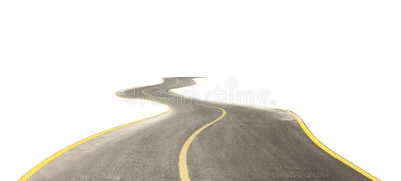 Route incurvée d'isolement sur le blanc photos libres de droits
