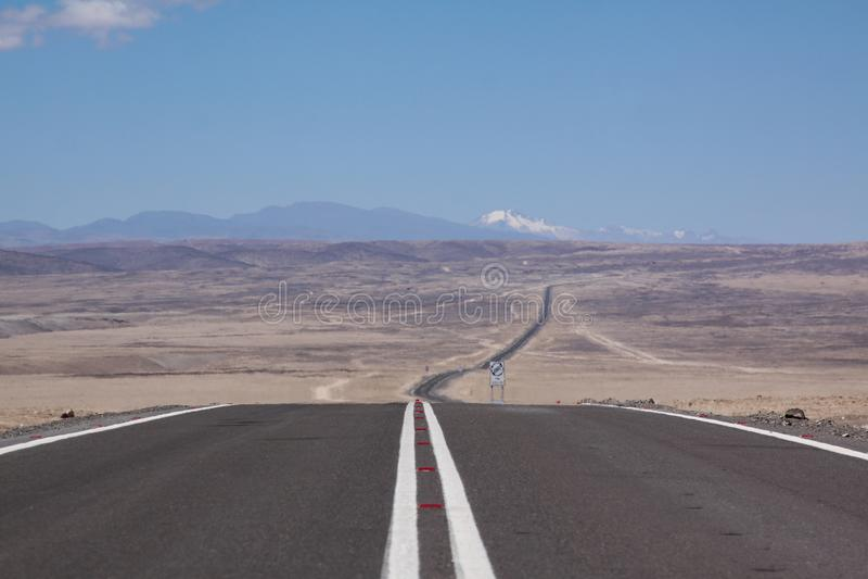 Route infinie photos libres de droits