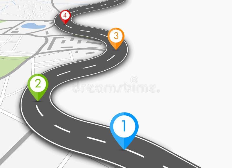 Route infographic illustration de vecteur