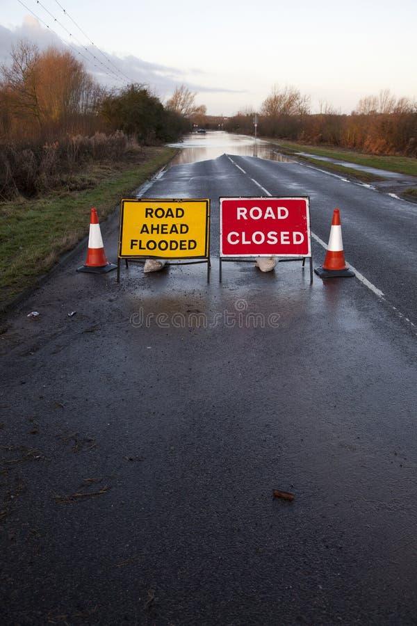 Route inondée photo libre de droits