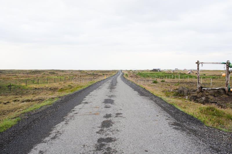 Route islandaise photographie stock