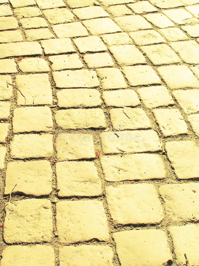 Route jaune de brique image libre de droits