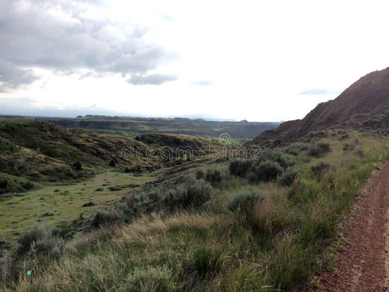 Route le long de Rolling Hills images stock