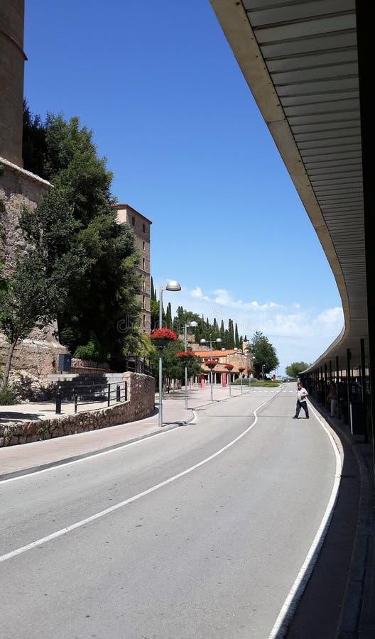 Route monastry de Moncerrat photos libres de droits