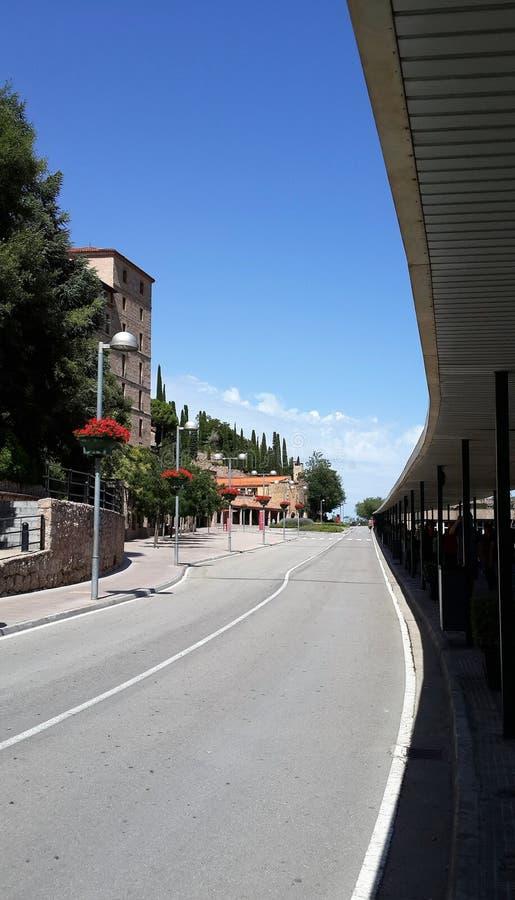 Route monastry de Moncerrat image stock