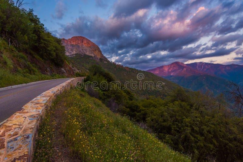 Route Moro Rock de généraux photo libre de droits