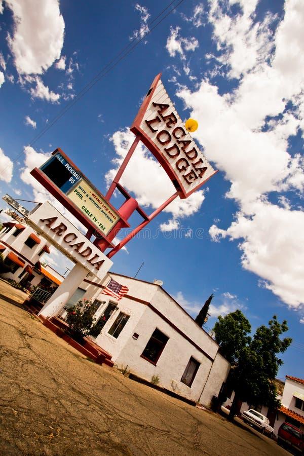 Route 66 -Motel stockfoto