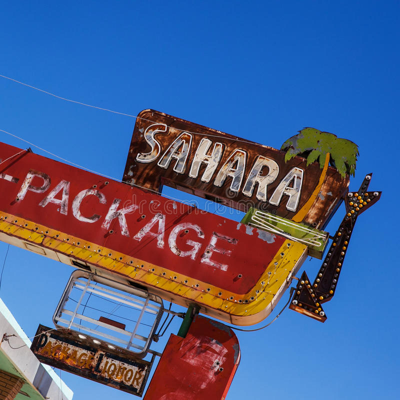 Route 66 Motel sign stock image