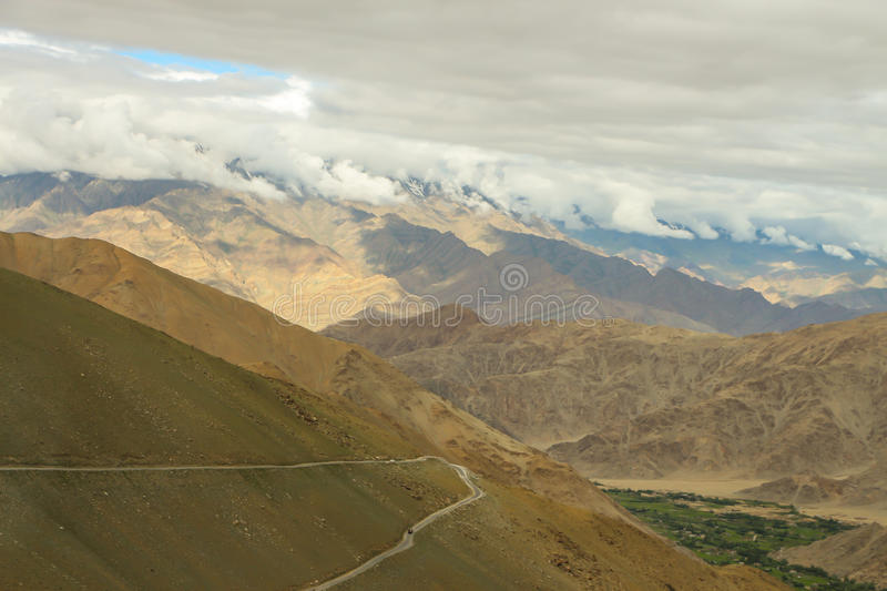 Route on the mountains. stock image