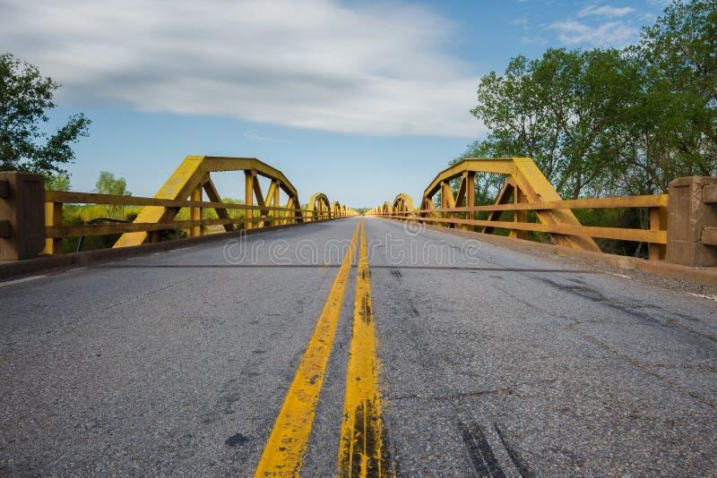 Route 66 : Murray Bridge, S. la rivière canadienne, OK photographie stock libre de droits