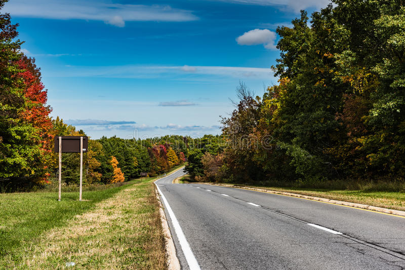 Route nationale taconique - Catskill, New York photographie stock