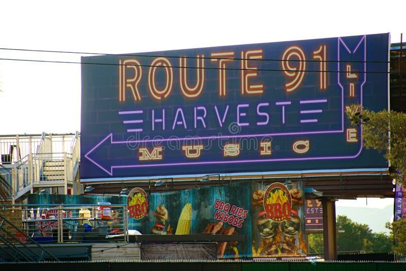 Route 91 OOGST Levend trefpunt na het spruitincident royalty-vrije stock afbeelding