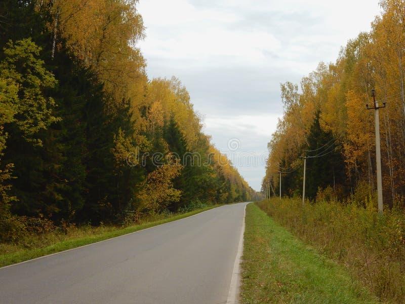 Route ountry de ¡ de Ð pendant l'automne images stock