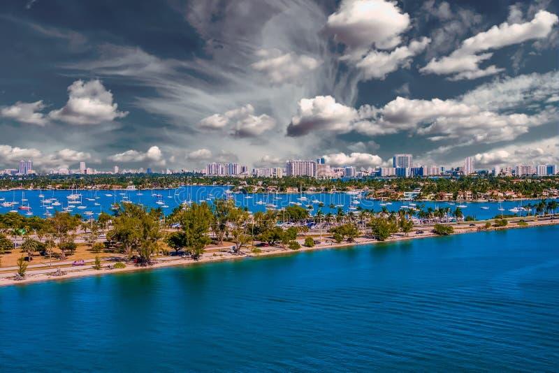Route par la baie de Biscayne photos stock