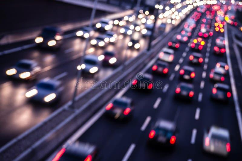 Route par nuit images stock