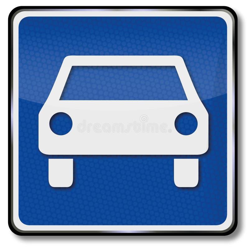 Route pour des véhicules à moteur illustration libre de droits