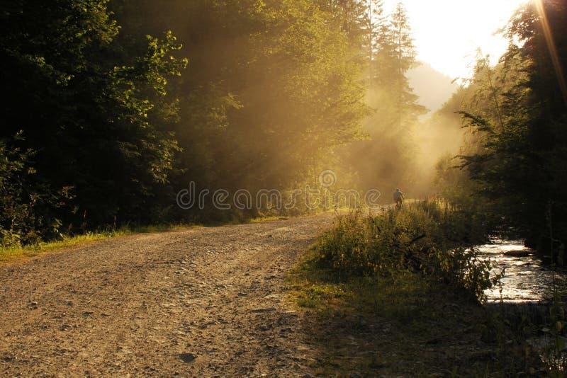 Route poussiéreuse photographie stock