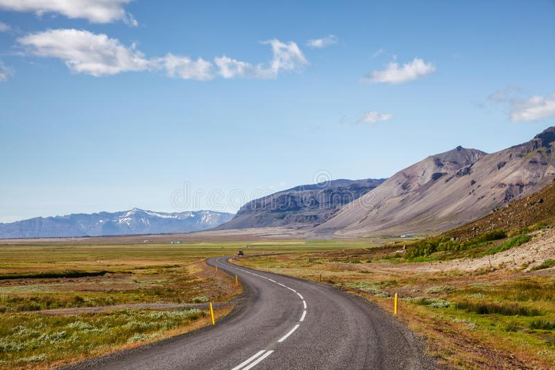Route 1 Ring Road Eastern Iceland Scandinavia royalty free stock image