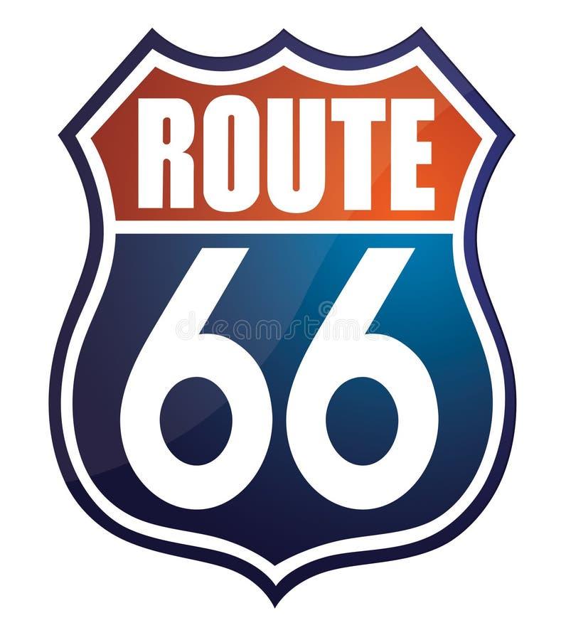 route 66 stock illustration illustration of sign illustration rh dreamstime com route 66 logo wallpaper route 66 logo png