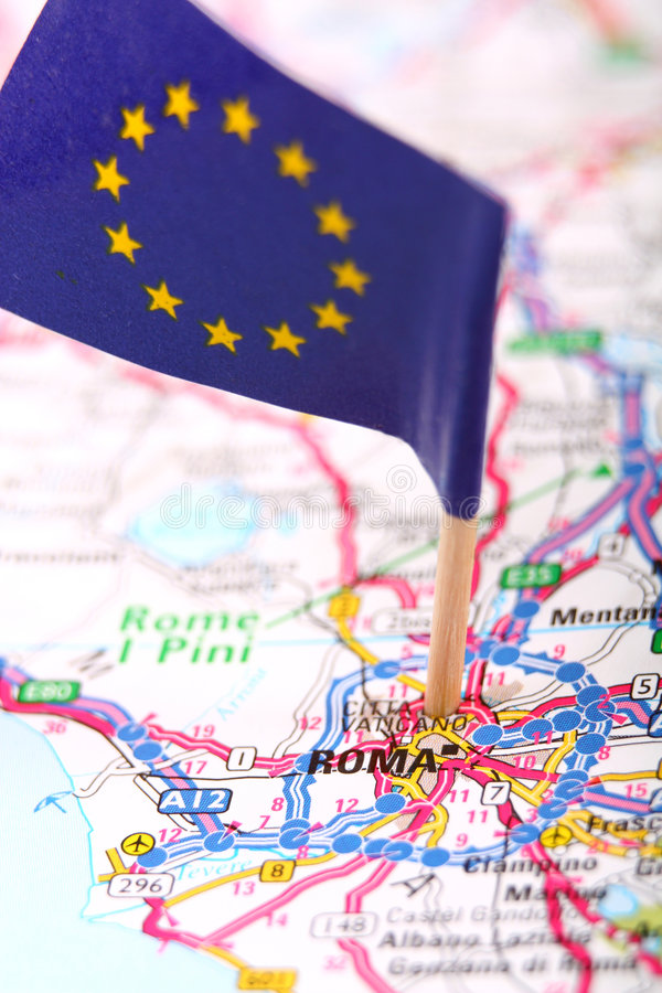 route Roma de carte images stock