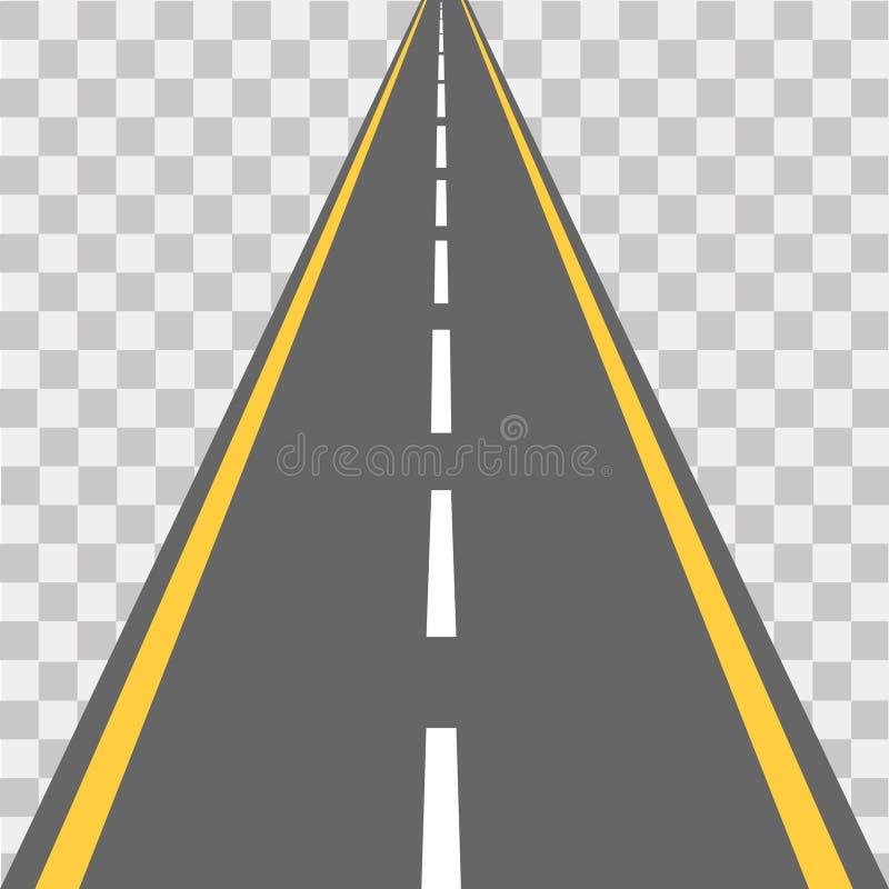 Route, rue avec l'asphalte omnibus Illustration de vecteur illustration de vecteur