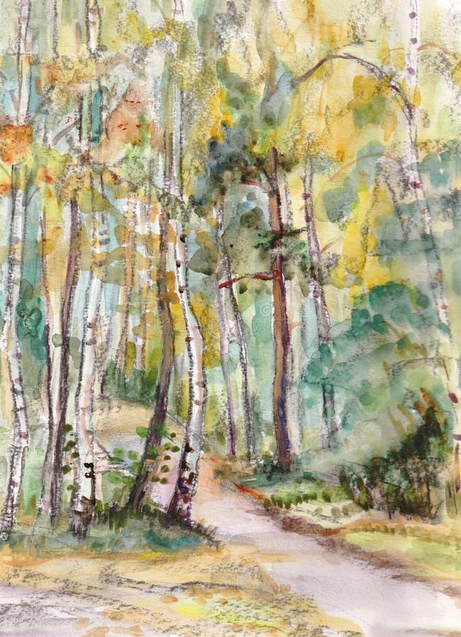 Download Route rurale illustration stock. Illustration du espérance - 45370666