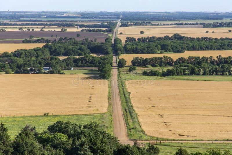 Route rurale du Kansas photos stock