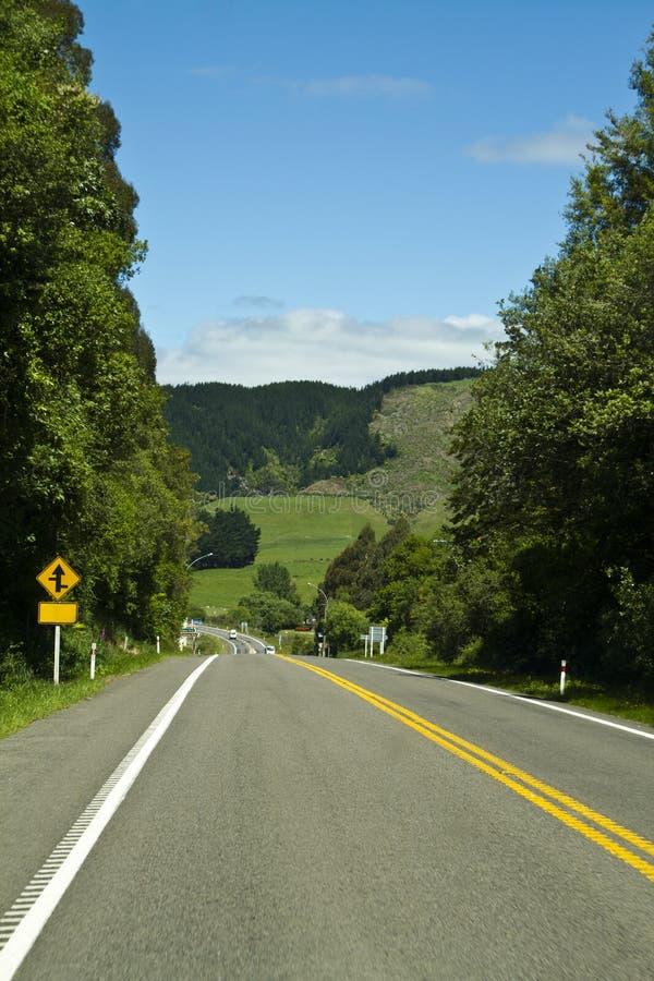 Route rurale Nouvelle-Zélande photos libres de droits