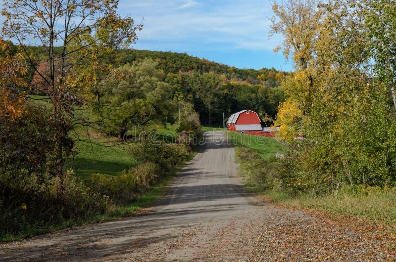 Route rurale paisible images libres de droits