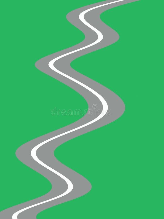 route sans fin illustration de vecteur
