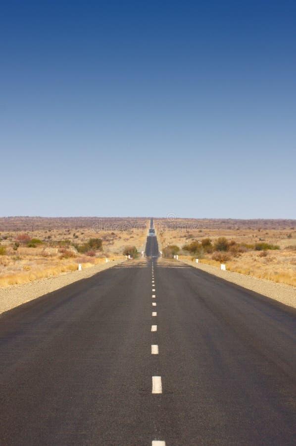 Route sans fin (B1 en Namibie) photos stock