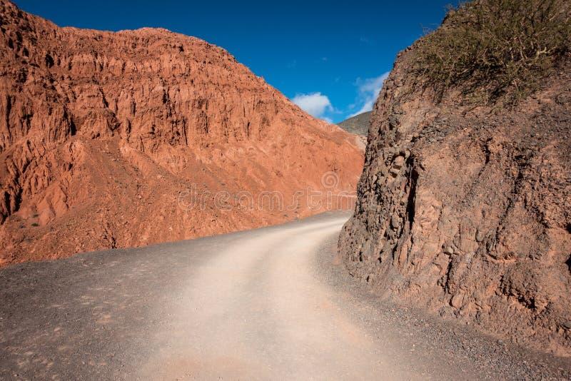 Route sauvage de désert en Argentine photos libres de droits