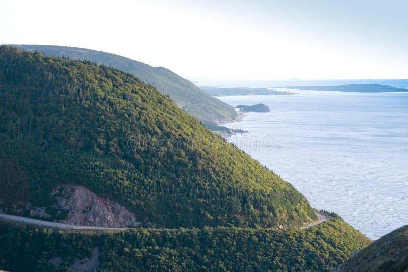 Route Scénique Bretonne De Cap Photo libre de droits