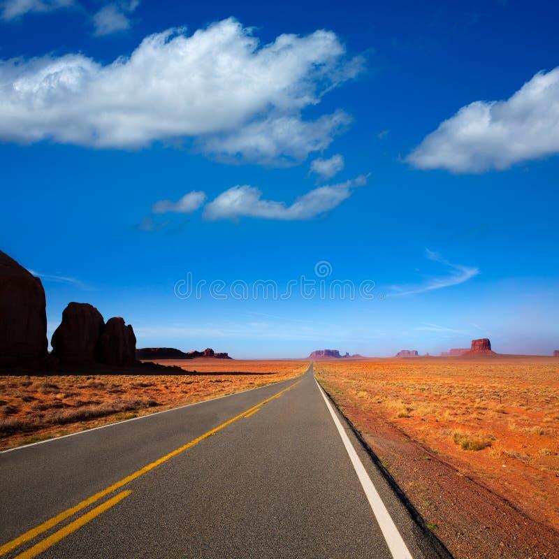 Route scénique de l'Arizona USA 163 à la vallée de monument image stock