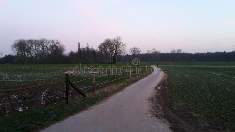Route se dirigeant à la maison photo libre de droits